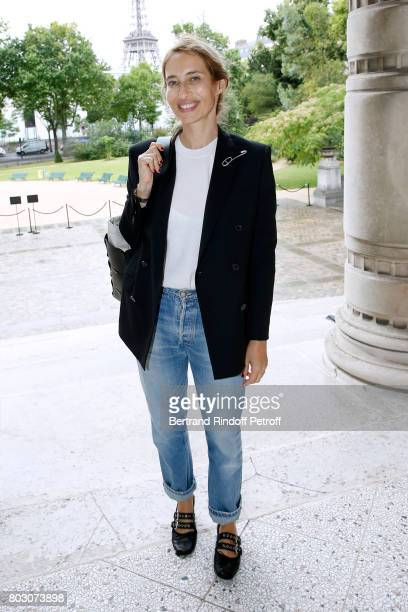 Journalist Alexandra Golovanoff attends Artistic Director of Lanvin Bouchra Jarrar is Decorated 'Officier de l'Ordre des Arts et des Lettres' at...