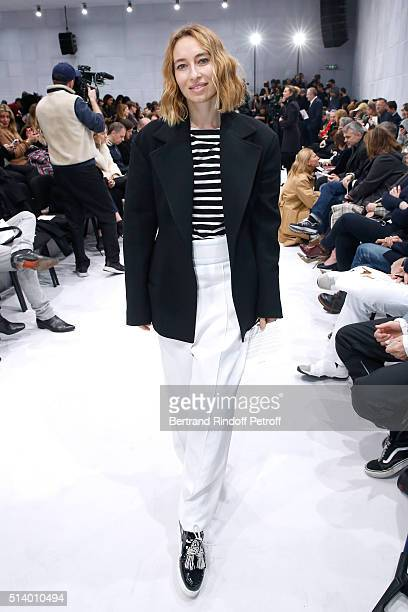 Journalist Alexandra Golovanoff attends the Balenciaga show as part of the Paris Fashion Week Womenswear Fall/Winter 2016/2017 on March 6 2016 in...