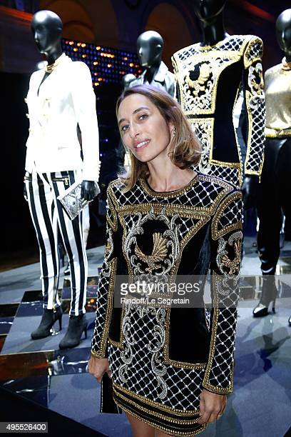 Journalist Alexandra Golovanoff attends the BALMAIN x HM Paris Launch Party on November 3 2015 in Paris France