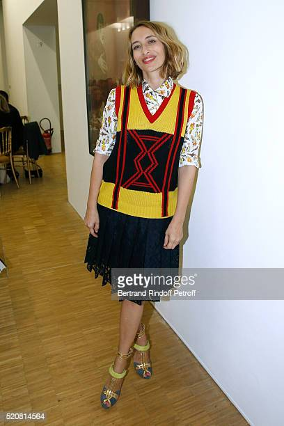 Journalist Alexandra Golovanoff attends the Societe des Amis du Musee d'Art Moderne du Centre Pompidou Dinner Party Held at Centre Pompidou on April...