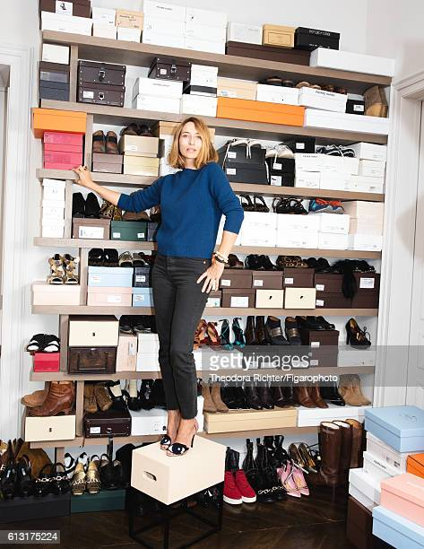 Journalist Alexandra Golovanoff is photographed for Madame Figaro on June 8 2016 in her closet in Paris France PUBLISHED IMAGE CREDIT MUST READ...