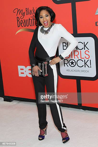 Journalist Alicia Quarles attends the BET's Black Girls Rock Red Carpet sponsored by Chevrolet at NJPAC – Prudential Hall on March 28 2015 in Newark...