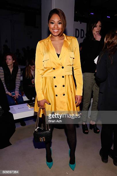 Journalist Alicia Quarles attends the Marissa Webb Fall 2016 fashion show during New York Fashion Week The Shows at The Gallery Skylight at Clarkson...