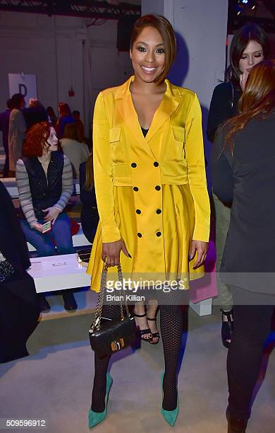 Journalist Alicia Quarles attends the Marissa Webb Fall 2016 show during New York Fashion Week The Shows at The Gallery Skylight at Clarkson Sq on...