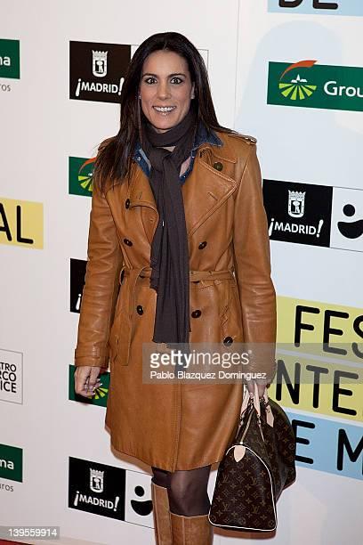 Journalist Alicia Senovilla attends the International Magicians Festival at Circo Price Theatre on February 22 2012 in Madrid Spain