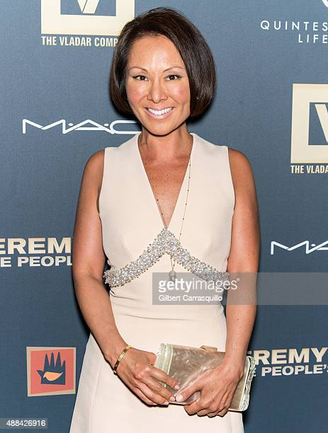 Journalist Alina Cho attends the 'Jeremy Scott The People's Designer' New York Premiere at The Paris Theatre on September 15 2015 in New York City