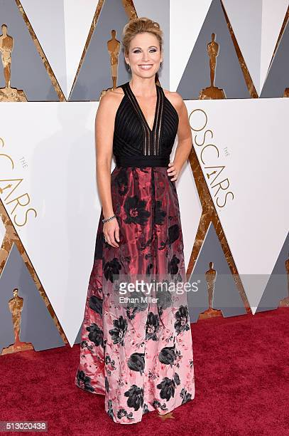 Journalist Amy Robach attends the 88th Annual Academy Awards at Hollywood Highland Center on February 28 2016 in Hollywood California