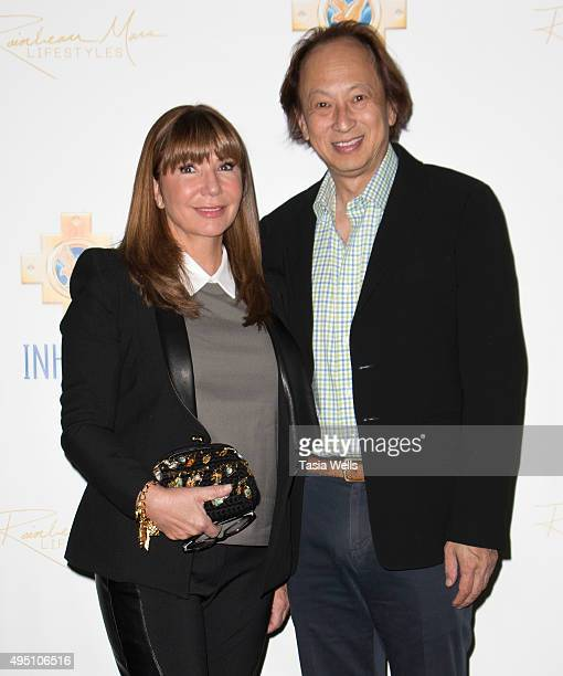 Journalist Ana Garcia and Ming Fu arrive at a charity event for Inkarri on October 24 2015 in Beverly Hills California