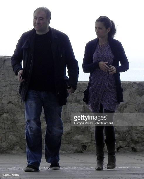 Journalist Ana Pastor and her husband Antonio Garcia Ferreras are seen on April 5 2012 in Ibiza Spain