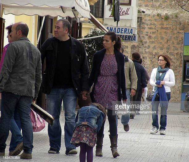 Journalist Ana Pastor and her husband Antonio Garcia Ferreras are seen on April 5 2012 in Ibiza Spain