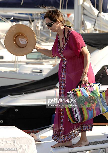 Journalist Ana Rosa Quintana is seen sighting on July 29 2011 in Marbella Spain