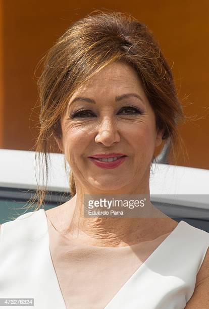 Journalist Ana Rosa Quintanta presents 'Doy la cara' capaign at Directorate General of Police on May 14 2015 in Madrid Spain