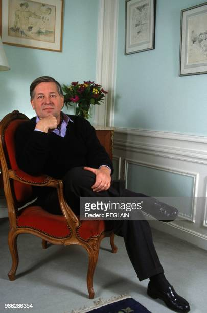 Journalist And Author Alain Duhamel At Home Paris January 18 1995