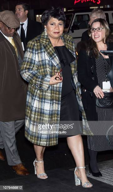 Journalist and author April Ryan is seen arriving to The National Board of Review Annual Awards Gala at Cipriani 42nd Street on January 8 2019 in New...
