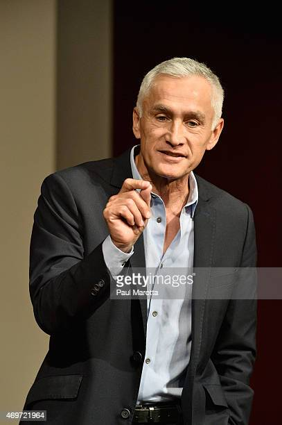 Journalist and author Jorge Ramos speaks at America 2050 The Future of News Latinos at the John F Kennedy Junior Forum at Harvard University Kennedy...