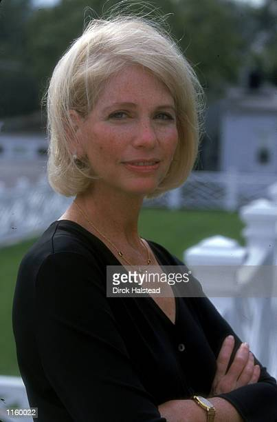 Journalist and author Judy Bachrach poses for a portrait September 19 2000 in Washington DC Bachrach published a book Tina and Harry Come To America...