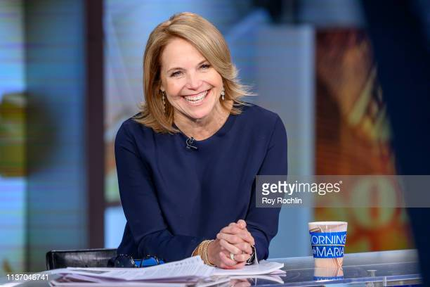 Journalist and author Katie Couric visits Mornings With Maria at Fox Business Network Studios on March 20 2019 in New York City