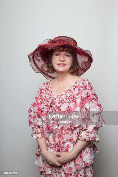 Journalist and author Patt Morrison is photographed for Los Angeles Times on April 21 2018 in the LA Times Studio at the Los Angeles Times Festival...