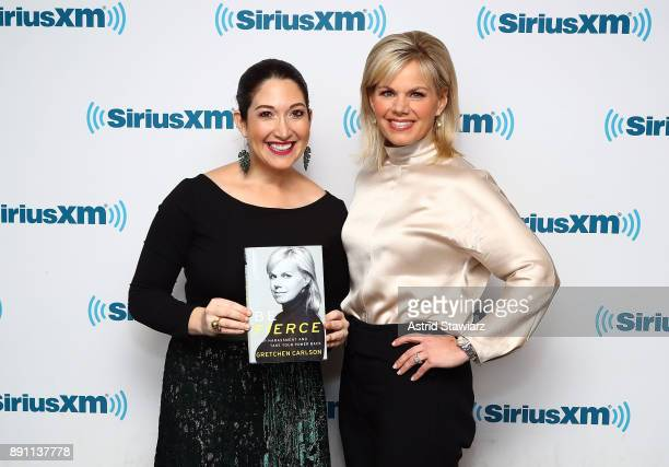 TV journalist and bestselling author Gretchen Carlson attends SiriusXM's 'Leading Ladies With Gretchen Carlson' hosted by SiriusXM host Randi...