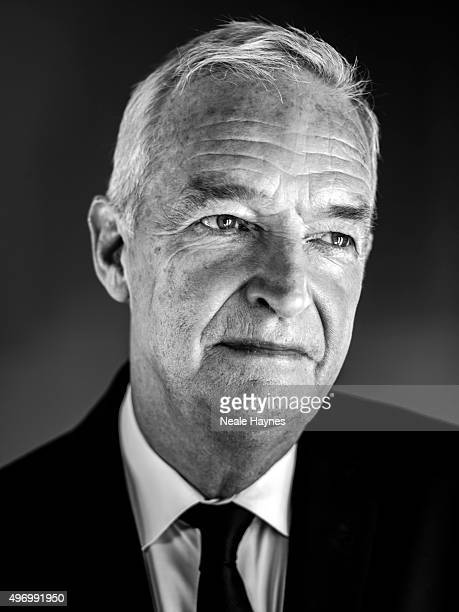 Journalist and broadcaster Jon Snow is photographed for the Daily Mail on September 21 2015 in London England