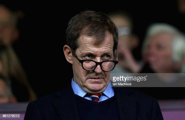 Journalist and Burnley fan Alastair Campbell looks on prior to the Premier League match between Burnley and West Ham United at Turf Moor on October...