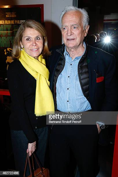 Journalist and Director Philippe labro and his wife Francoise Coulon attend the Private Screening of the Movie 'Tout Peut Arriver' at Mac Mahon...