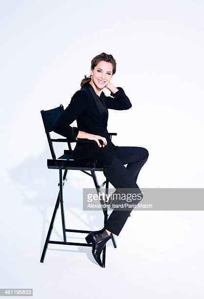 Journalist and film director Melissa Theuriau is photographed for Paris Match on December 10 2013 in London England