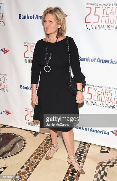 Journalist and Host Cynthia McFadden attends the International Women's Media Foundation Awards Luncheon at Cipriani 42nd Street on October 22 2014 in...