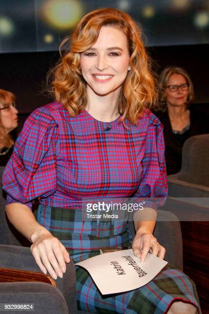 Journalist and presenter Katrin Bauerfeind during the photo call to the 'Tietjen und Bommes' TV show on March 16 2018 in Hanover Germany