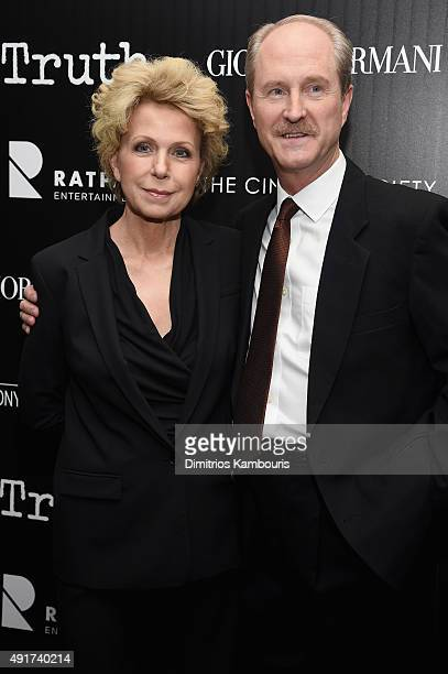 Journalist and Producer Mary Mapes and Mark Wrolstad attend the Giorgio Armani and Cinema Society screening of Sony Pictures Classics' Truth at...