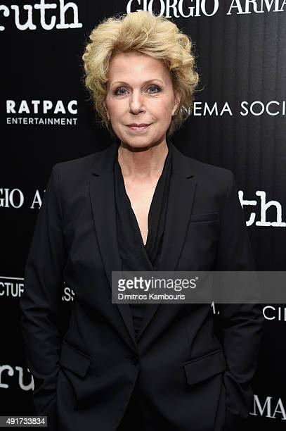 Journalist and Producer Mary Mapes attends the Giorgio Armani and Cinema Society screening of Sony Pictures Classics' Truth at Museum of Modern Art...