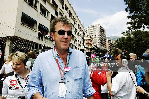 Journalist and television presenter Jeremy Clarkson on the grid before the Monaco F1 Grand Prix on May 23 in Monte Carlo Monaco