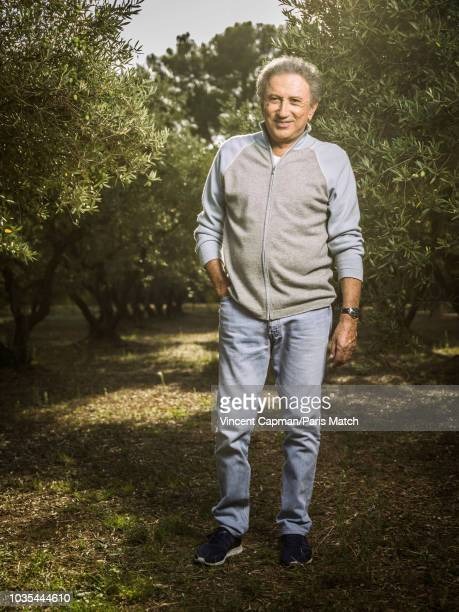 Journalist and TV host Michel Drucker is photographed for Paris Match on September 8 2018 in Eygalieres France