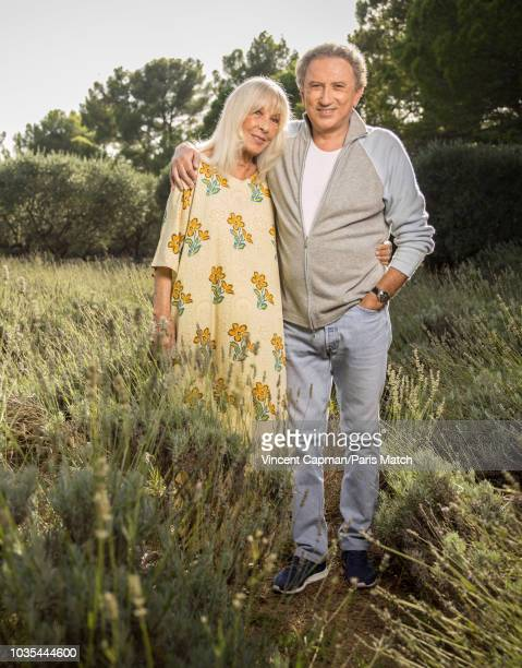 Journalist and TV host Michel Drucker is photographed with his wife Dany Saval for Paris Match on September 8 2018 in Eygalieres France