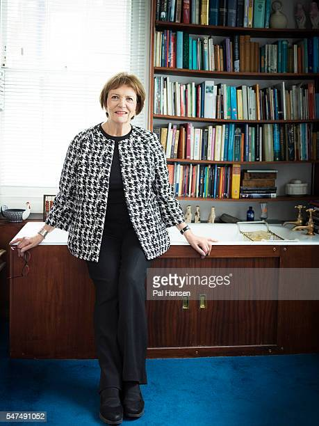 Journalist and tv presenter Joan Bakewell is photographed for Waitrose magazine on January 27 2016 in London England