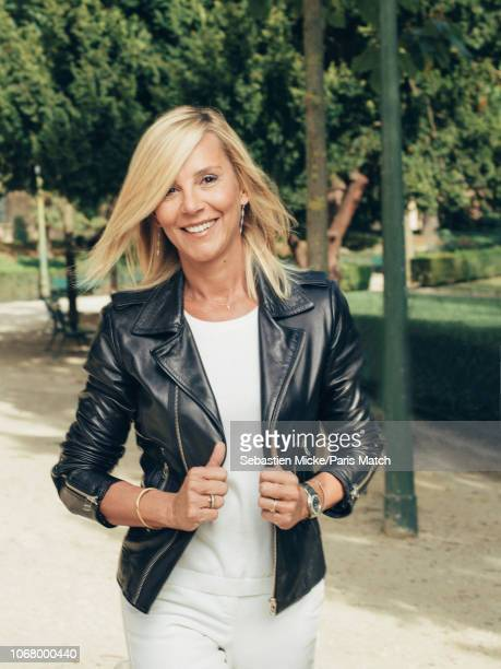 Journalist and tv presenter Laurence Ferrari is photographed for Paris Match on September 8 2018 in Paris France