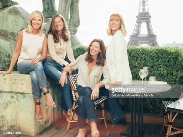 Journalist and tv presenter Laurence Ferrari is photographed with her sisters Emmanuelle Sophie and her daughter Laetitia Hugues for Paris Match on...