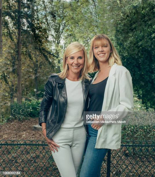 Journalist and tv presenter Laurence Ferrari with her daughter Laetitia Hugues are photographed for Paris Match on September 8 2018 in Paris France