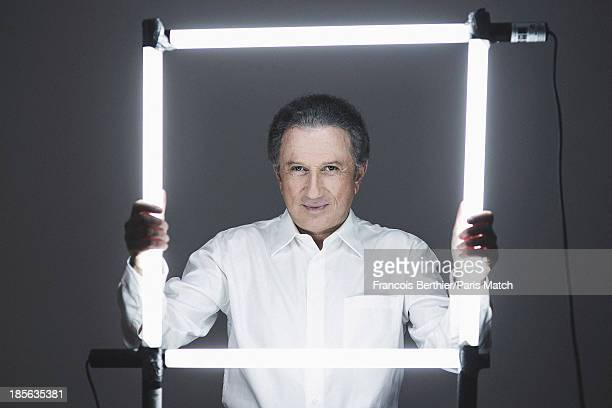 Journalist and tv presenter Michel Drucker is photographed for Paris Match on October 5 2013 in Paris France