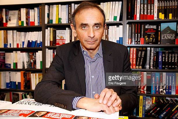 Journalist and Writer Eric Zemmour Photographed in PARIS