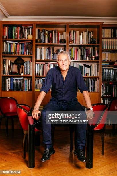 PARIS FRANCE SEPTEMBER 06 Journalist and writer Gilles MartinChauffier is photographed for Paris Match on September 6 2018 in Paris France