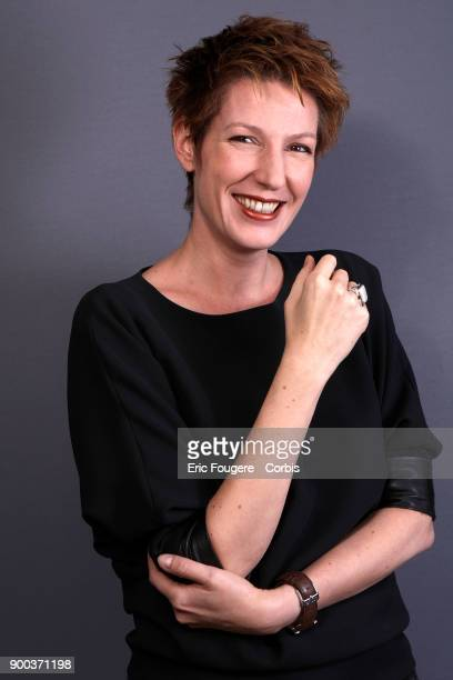 Journalist and Writer Natacha Polony poses during a portrait session in Paris France on