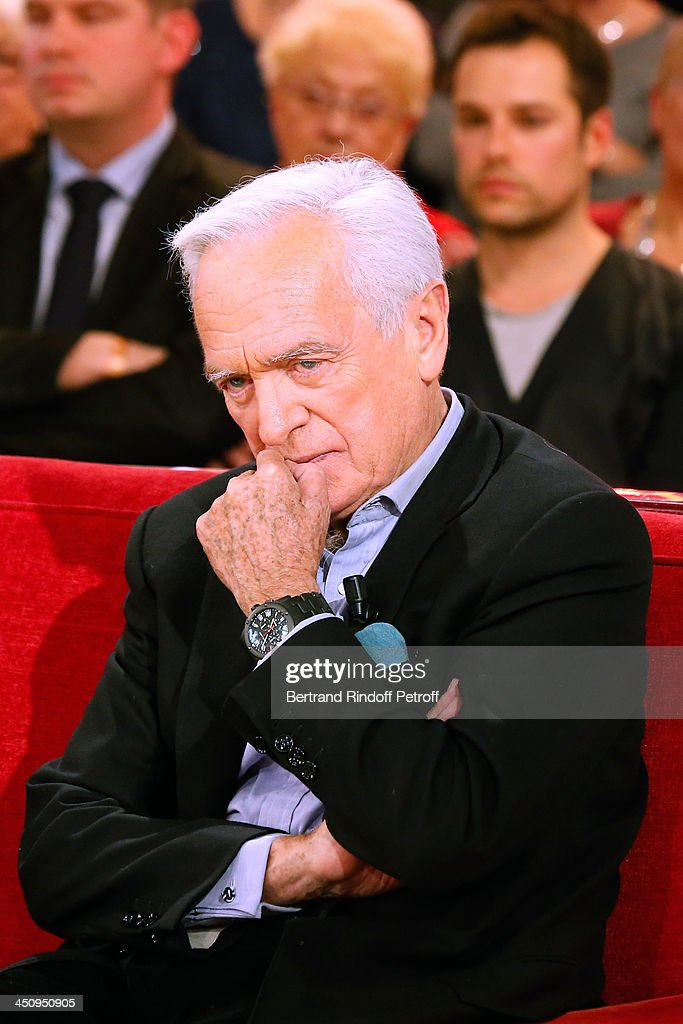 Journalist and writer of the book 'Un americain peu tranquille' Philippe Labro attends the 'Vivement Dimanche' French TV Show, held at Pavillon Gabriel on November 20, 2013 in Paris, France.