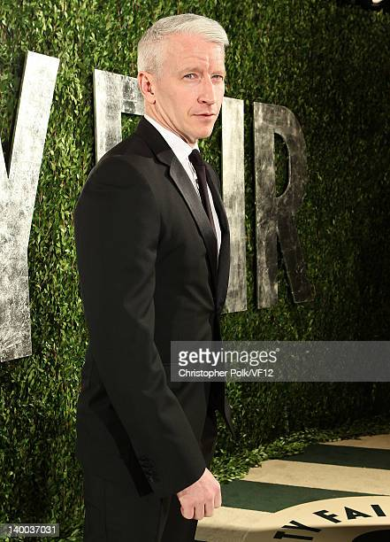 Journalist Anderson Cooper attends the 2012 Vanity Fair Oscar Party Hosted By Graydon Carter at Sunset Tower on February 26 2012 in West Hollywood...