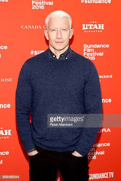 Journalist Anderson Cooper attends the Nothing Left Unsaid Gloria Vanderbilt Anderson Cooper Premiere during the 2016 Sundance Film Festival at The...