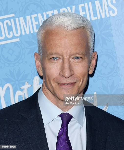 Journalist Anderson Cooper attends the Nothing Left Unsaid New York premiere at Time Warner Center on April 4 2016 in New York City