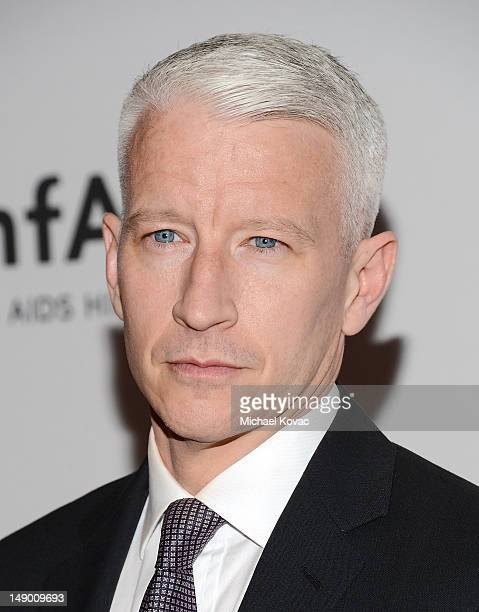 Journalist Anderson Cooper attends Together To End AIDS: An Evening To Benefit amfAR and GBCHealth at John F. Kennedy Center for the Performing Arts...