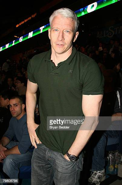Journalist Anderson Cooper during NBA AllStar Saturday Night part of 2008 NBA AllStar Weekend at the New Orleans Arena on February 16 2008 in New...
