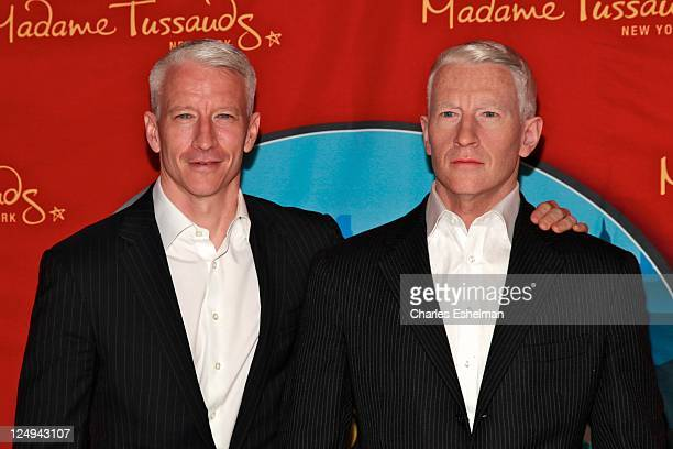 Journalist Anderson Cooper unveils his wax figure at Madame Tussauds on September 14 2011 in New York City