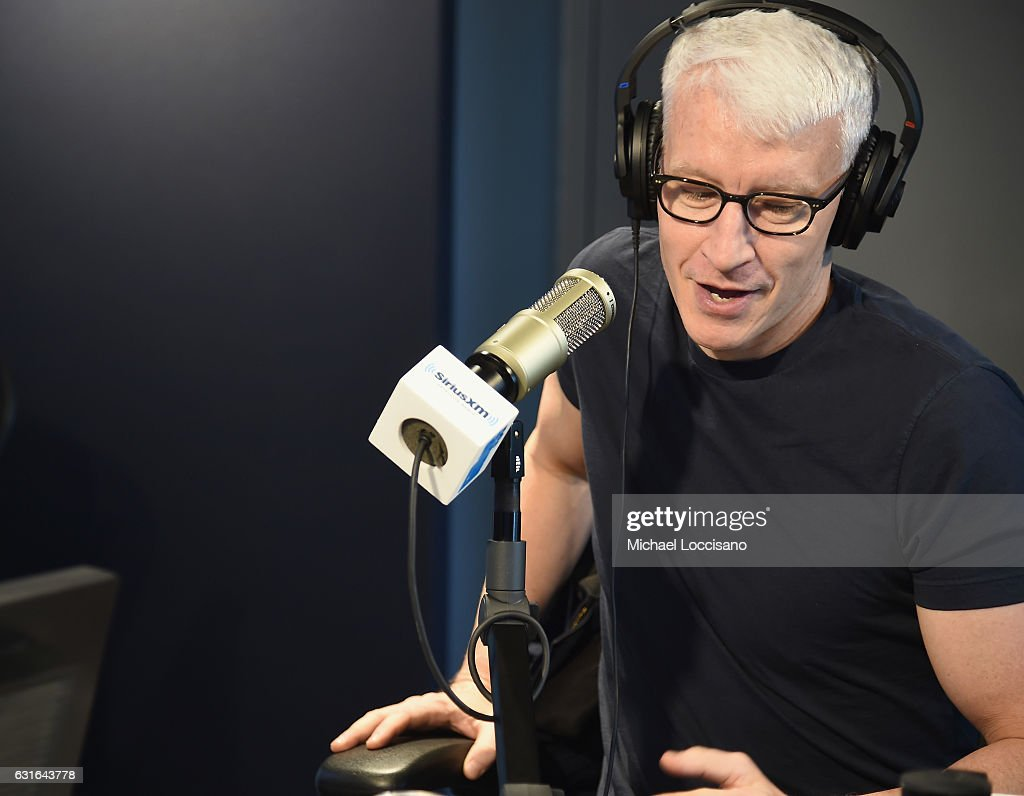Journalist Anderson Cooper visits SiriusXM Studios on January 13, 2017 in New York City.